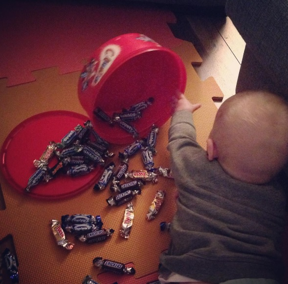 Somebody found the chocolates but they're not on the menu!