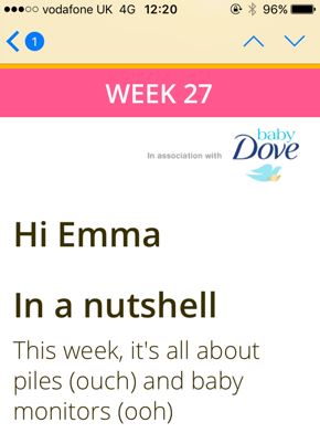 So week 27 sounded fun... Weekly email update. LOL.
